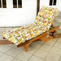 None - Outdoor Fireworks Floral Chaise Lounge Chair Cushion - Update the fashion of your outdoor decor with this lounge chair cushion. In a vibrant floral pattern, this cushion is sewn on all sides and is weather resistant.