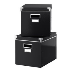 Jon Karlsson - KASSETT Box with lid - Box with lid, black