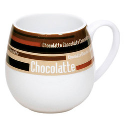 Konitz - Set of 2 Snuggle Mugs Choco Stripes - Soon to be your favorite hot chocolate mug! Contemporary striped design in varying shades of brown gives you the creative style you've been looking for. Snuggle mug shape fits perfectly in cupped hands.