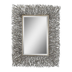 Uttermost - Corbis Decorative Metal Mirror - Before leaving the house, take a quick glance in this stunning mirror to ensure your look is as equally stunning. With its striking design and dazzling accents, you won't be the only one who's looking absolutely radiant.