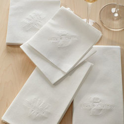 Classic Impressions - Classic Impressions 50 Regalia Guest Towels - These elegant white guest towels and cocktail napkins embossed with a name across a single initial offer the look of linen and the convenience of paper. Made in the USA. Personalization is a name (up to 20 characters/spaces) over a single initial in th...
