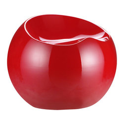 ZUO MODERN - Drop Stool Red - Like a sculpted drop of dew, the Drop stool not only has a wonderful shape, but also a perfect seating surface. It is formed from ABS plastic and comes in four glossy colors: black, white, red, and green.