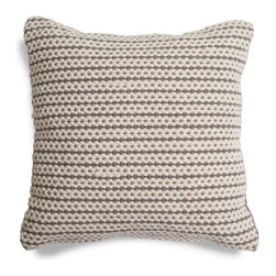Blu Dot - Blu Dot Nana Pillow, Grey - Hand-woven from a wool and cotton blend. Available in grey and red.