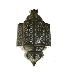 Lighting - Large metal hand cut pendant from Morocco.