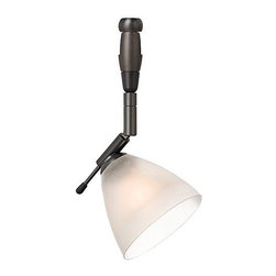 LBL Lighting - Mini-Dome I Swivel I Frost LED Monorail 1 Light Track Head - LBL Lighting's Monorail is a versatile state-of-the-art track lighting system featuring hand bendable track in a variety of finishes to compliment any dcor.