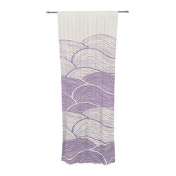 "Kess InHouse - Pom Graphic Design ""The Lavender Seas"" Purple Waves Decorative Sheer Curtain - Let the light in with these sheer artistic curtains. Showcase your style with thousands of pieces of art to choose from. Spruce up your living room, bedroom, dining room, or even use as a room divider. These polyester sheer curtains are 30"" x 84"" and sold individually for mixing & matching of styles. Brighten your indoor decor with these transparent accent curtains."