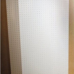 Triton 2 pc. DuraBoard Pegboard Set - The Triton 2 pc. DuraBoard Pegboard Set is the perfect choice if you need additional wall storage space. Durable and easy to customize, this set is compatible with other Triton DuraBoard pegboard systems. It consists of a pair of DuraBoard polypropylene pegboards measures 1/4 inch thick. Each translucent white board is weather-resistant and washable - as easy to clean as it is to install. These boards are virtually indestructible, offering up to three times the holding power of traditional pegboards. The hole diameters measure 0.28 inches and are spaced 1 inch on center. They are designed to accommodate all 70000 series DuraHooks as well as standard pegboard hooks. Mount these boards using the convenient spacer kit, available separately.About Triton ProductsWith more than 25 years of proven solutions and innovative designs, Triton Products is the logical choice for your personal storage systems. These custom products can be found in tens of thousands of service, maintenance, and manufacturing facilities worldwide. Every state-of-the-art tool has been ergonomically designed and thoroughly tested to ensure durability and effectiveness. Triton is guided by a dedication to design quality products, patent useful new features, and provide excellent customer service. With Triton's help, it's easy to get and stay organized.