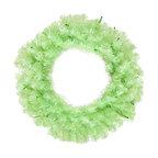 "Vickerman - Chartruese Wreath 50Green Lts 180T (24"") - 24"" Chartruese Wreath  50 Green Mini Lights, 180 PVC Tips"