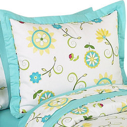 Sweet Jojo Designs - Layla Pillow Sham by Sweet Jojo Designs - The Layla Pillow Sham by Sweet jojo designs, along with the bedding accessories.