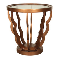 """GILANI - Alhambra Lamp Table Base - Alhambra Lamp Table Base. Style no: ST89285. 26""""dia x 27""""h. Material: Metal. Finish: As specified. Top Options: Wood, glass, stone, copper. Custom sizing available. Designed by Shah Gilani, ASFD."""