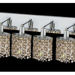 Elegant Lighting - Mini Ellipse Chrome Six-Light Bath Fixture with Royal Cut Golden Teak Smoky and - Royal Cut crystal is a combination of high quality lead free machine cut and machine polished crystals and full-lead machined-cut crystals to meet a desirable showmanship of an authentic crystal light fixture.  -Recommended to be professionally hung and supported independently of the outlet box. Consult an electrician for guidance to determine the correct hanging procedure.  -Crystals may ship separately and some assembly is required.  -Depending on the size & design the assembly can be time consuming, but is well worth the effort. Elegant Lighting - 1386W-O-E-GT/RC