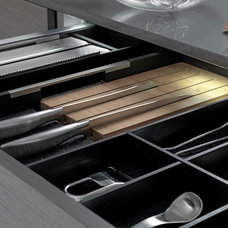 contemporary cabinet and drawer organizers by Belle Kitchen design | build