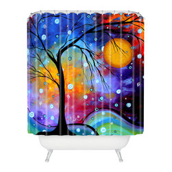 DENY Designs - madart inc Winter Sparkle Shower Curtain - Who says bathrooms can't be fun? To get the most bang for your buck, start with an artistic, inventive shower curtain. We've got endless options that will really make your bathroom pop. Heck, your guests may start spending a little extra time in there because of it!