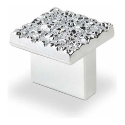 Topex Hardware - Topex Hardware P204616Crl Mosaic Design Square Knob Chrome 25mmx25mm - Topex Hardware P204616Crl Mosaic Design Square Knob Chrome 25mmx25mm
