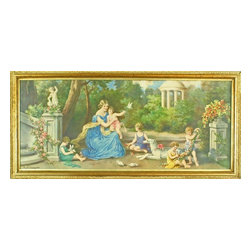 EuroLux Home - Consigned Antique German Color Lithograph Art - Product Details