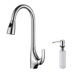 Kraus - Kraus KPF-1621-KSD-30CH Single Lever Pull Down Kitchen Faucet - Update the look of your kitchen with this multi-functional Kraus pull-out faucet