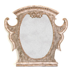 Kathy Kuo Home - Versailles French Country Antique Gold Distressed Carved Mirror - Add an element of lavish luxury to your French country home or vintage décor with this Versailles antiqued gold mirror. Extravagant design and rich detailing peer back at you from this distressed, glowing mirror. With ornate curves and carvings worthy of French royalty on your wall, no one will ever question your lineage.