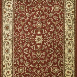 "Concord Global - Concord Global Chester Flora Red 3'3"" x 4'7""  Rug (9730) - Heat-set, machine made olefin rug captures the look of traditional Peshawar rugs at incredible prices. Special double twisted tri-color freese yarn mimics the handmade look as each color has multiple shades of the same creel. 9mm pile height, made in Turkey."