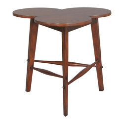 EuroLux Home - New Accent Table Brown/Beige/Tan French - Product Details
