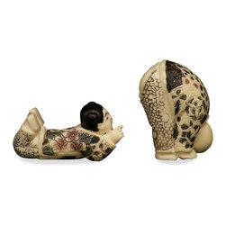 China Furniture and Arts - Imitation Ivory Figurines - Imitation Ivory Figurines
