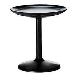 Ikea PS Sandskär Tray Table, Black - Another fun Ikea piece, this is both table and tray — the top is removable for serving.