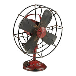 Vintage Industrial Fan Decor - *Dimensions: 5L x 10W x 13H