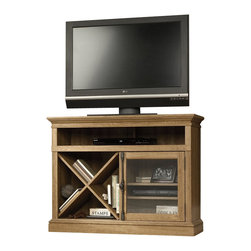 Sauder - Sauder Barrister Lane Corner TV Stand in Scribed Oak - Sauder - TV Stands - 414723 -