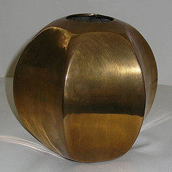 Vintage Sculptural Brass Vase from India - Thank you this item is now Sold!