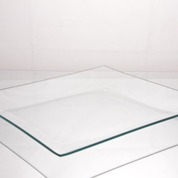 Clear Glass Plate, Square - Although this is technically a glass plate, I would use it as the perfect glass tray to display small collections. And for under $10, you can get a few.
