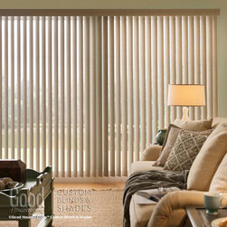 Good Housekeeping Cordless Vertical Blinds - Good Housekeeping's line of Vinyl Vertical blinds come standard with cordless. Whether you're shopping for blinds for your office or formal dining room, these verticals have the perfect pattern available to meet your needs while adding drama, height, and light control to your windows.