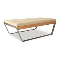 Elemental Living - Elemental Living | Sylis Upholstered Bench 47 - Design by Jonathan Coppin and Scott Dergance.