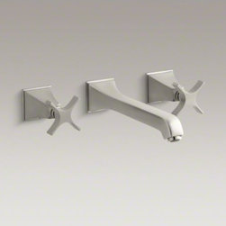 KOHLER - KOHLER Memoirs(R) wall-mount bathroom sink faucet trim with cross handles, requi - Memoirs faucets with Stately design offer a refined style for your bath or powder room. This Memoirs bath sink faucet trim features a sleek, elongated spout with ergonomic cross handles. The trim mounts to the wall, keeping your countertop free of clutter