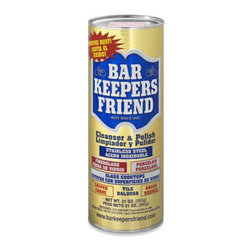 Bar Keepers Friend - When it comes to household cleaning supplies, Bar Keepers Friend surpasses all. With over 100 years of experience, this product can clean basically every surface in your house and make to make it look brand new.Powder: 21 oz. Liquid: 26 oz. Available in liquid or powder. Made in USA.
