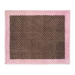 """Sweet Jojo Designs - Pink Brown Toile Accent Floor Rug - The Pink Brown Toile Floor Rug by Sweet Jojo Designs adds a designer's touch to any child's room. This children's accent floor rug is constructed from 100% acrylic yarn, which makes it super soft and cozy! It also comes with a non-skid back so that you can safely use it in your child's bedroom or bathroom. This children's floor rug is 36"""" x 30""""."""