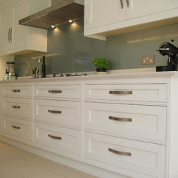 Kitchens - Hand Painted and Oak with contemporary glass and mirror features