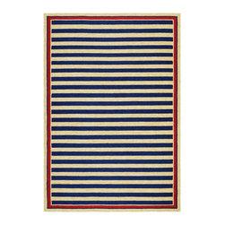 Couristan - Covington Nautical Stripes Rug 3126/0630 - 2' x 4' - Covington nautical stripes rug 3126/0630 - 2' x 4'.