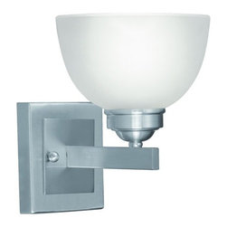"Livex Lighting - Livex Lighting 4201 1 Light 100 Watt 6.5"" Wide Bathroom Fixture - 1 Light 100 Watt 6.5"" Wide Bathroom Fixture with Satin Glass from the Somerset CollectionWith one light this fixture is sure to provide an ample amount of light to a bathroom setting. The satin glass shades and straight lines work together to achieve a classic look and feel.Features:"