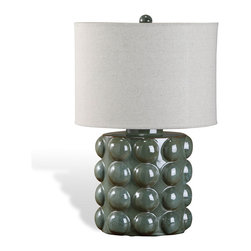 Interlude Home - Sansa Bubble Lamp, Sage - You'll be tempted to touch! With bubbles on every side, this whimsical sage ceramic table lamp is ready to show off your quirky side in your oh-so groovy bedroom or living room. It lights up your reading corner and doubles as a tactical Zen-like stress reliever after a hard day.