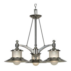 Quoizel - Quoizel NA5103BN New England Modern/Contemporary Chandelier - This collection gives a nod to timeless nautical style of the magnificent ocean liners of the 20's and 30's, but is updated for today's homes. A handsome classic that is always in fashion.
