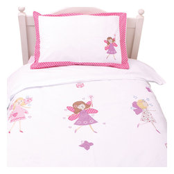 Babyyface - Fairy Duvet Cover Set- Twin - Duvet set includes duvet cover and a pillowcase.