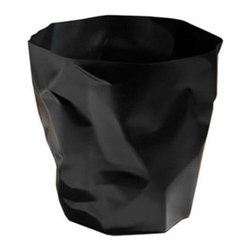 Ameico - Bin Bin Waste Paper Basket, Black - The Bin Bin Waste Paper Basket is a multiple award-winning design and it's easy to see why - it takes on the unique form of crumpled paper, something we're all too familiar with in the office. This charming waste basket is ideal for any office, dorm room or living room, and stands as a wonderful decor piece all on its own!