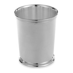 Reed & Barton - Reed & Barton 10-Ounce Silver Plate Mint Julep Cup with Double Beading - This traditional mint julep cup from Reed & Barton  has a footed base with double beading on the top and bottom of the piece. Beautifully finished silver plating comes nicely gift boxed and is suitable for engraving.