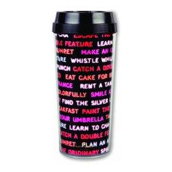 Kate Spade - kate spade Thermal Mug - Sayings - Keep your hot coffee hot and iced coffee cold with our Sayings Thermal Mug from kate spade new york. The BPA-, phthalate-, and lead-free interior means you can sip without worry. Cute sayings include some of our favorites - find the silver lining, eat cake for breakfast, learn to cha-cha and more.