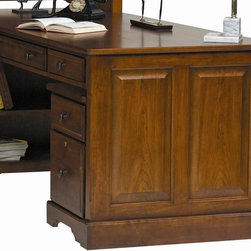 Winners Only - Americana Partner Desk - One adjustable shelf. One accessory drawer and wide drop front drawer on each side. Cherry finish. Assembly required. 32 in. W x 72 in. D x 30 in. H