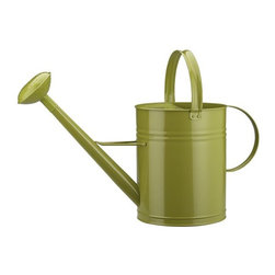 Green Watering Can - I love practical gardening tools that look great when they're sitting out. If I don't keep my watering can in full view, I forget to water. Once that happens, it doesn't matter how great your planters look. The bright green is modern and playful and modern, so don't be afraid to leave it out.
