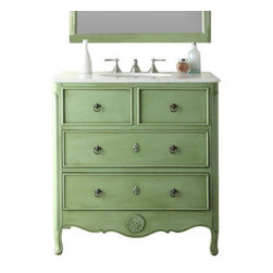 "Benton Collection - Cottage Look Daleville Bathroom Sink Vanity, 34"" - Dimensions: 34 x 21 x 35"" H"