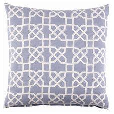 Contemporary Decorative Pillows John Robshaw Blue Trellis Pillow