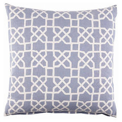 contemporary pillows John Robshaw Blue Trellis Pillow