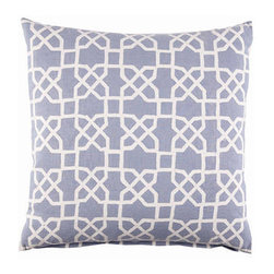 John Robshaw Blue Trellis Pillow - Blue is another great color for the couch, and the trellis pattern looks wonderful on this pillow.