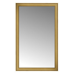 """Posters 2 Prints, LLC - 49"""" x 78"""" Arqadia Gold Traditional Custom Framed Mirror - 49"""" x 78"""" Custom Framed Mirror made by Posters 2 Prints. Standard glass with unrivaled selection of crafted mirror frames.  Protected with category II safety backing to keep glass fragments together should the mirror be accidentally broken.  Safe arrival guaranteed.  Made in the United States of America"""